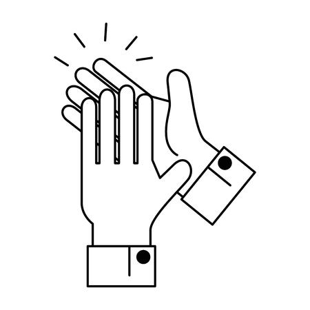 Mãos aplaudindo isolado ícone vetor ilustração design Foto de archivo - 90474421