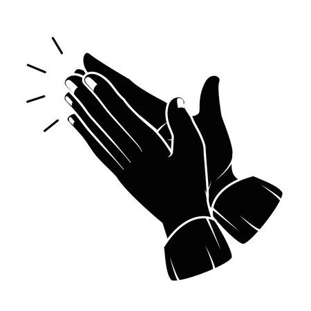 Mãos aplaudindo isolado ícone vetor ilustração design Foto de archivo - 90474426