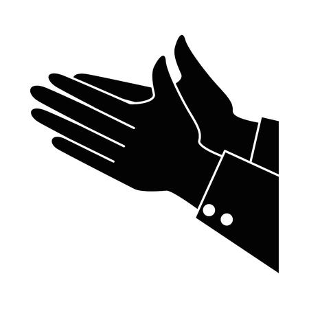 Mãos aplaudindo isolado ícone vetor ilustração design Foto de archivo - 90474427