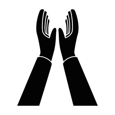 Mãos aplaudindo isolado ícone vetor ilustração design Foto de archivo - 90474331