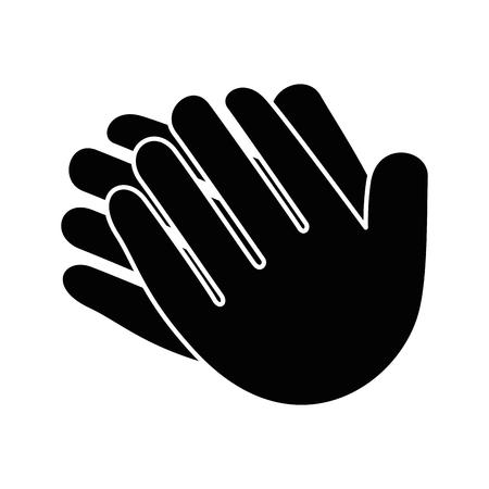 Mãos aplaudindo isolado ícone vetor ilustração design Foto de archivo - 90474333
