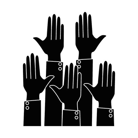 hands up isolated icon vector illustration design Çizim