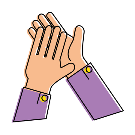 hands applauding isolated icon vector illustration design