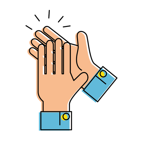hands applauding isolated icon vector illustration design Banco de Imagens - 90472541