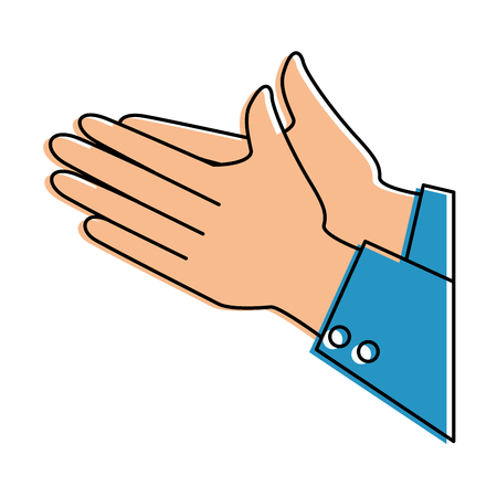 hands applauding isolated icon vector illustration design Banco de Imagens - 90472255