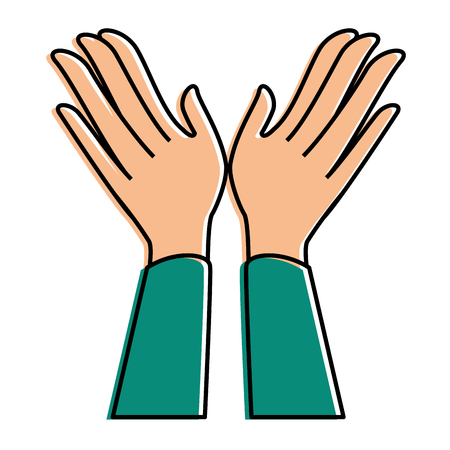 hands applauding isolated icon vector illustration design Reklamní fotografie - 90472543