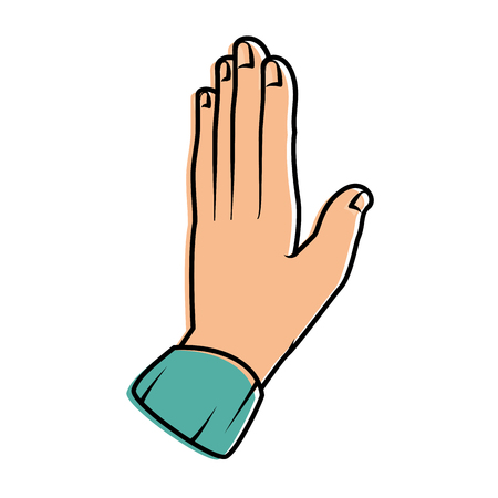 hand giving the five vector illustration design