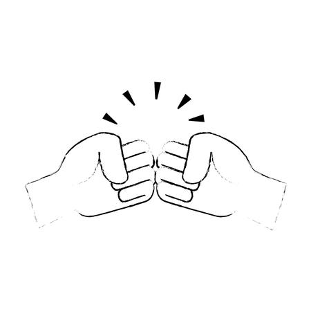 fists crashing isolated icon vector illustration design
