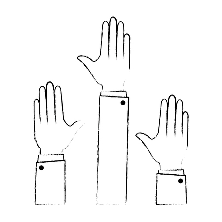 hands up isolated icon vector illustration design Ilustração