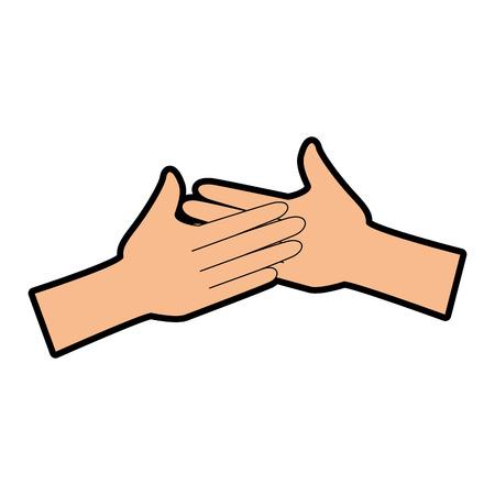 Mãos aplaudindo isolado ícone vetor ilustração design Foto de archivo - 90472361