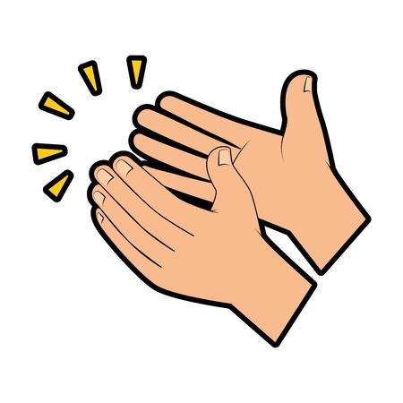 handen applaudisseren geïsoleerd pictogram vector illustratie ontwerp Vector Illustratie