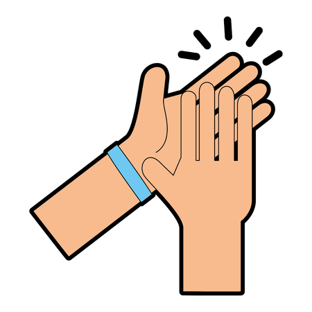 hands applauding isolated icon vector illustration design Banco de Imagens - 90473931