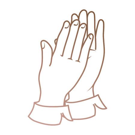 Hände applaudieren isolierten Symbol Vektor-Illustration , Design , Standard-Bild - 90473974