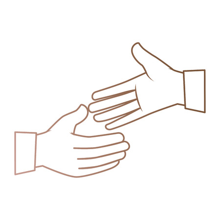 hands giving the five vector illustration design