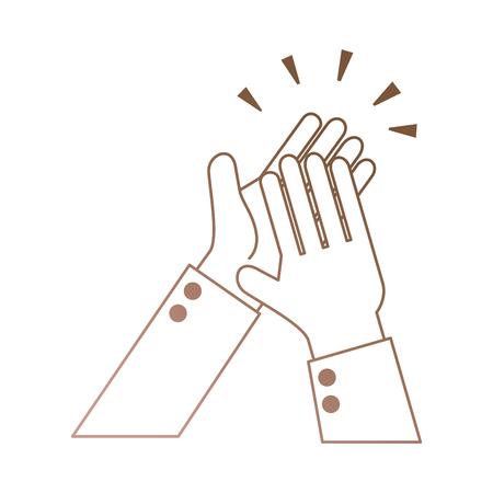 격리 된 아이콘 벡터 일러스트 디자인 박수 손을 일러스트