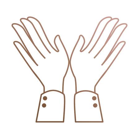 Mãos aplaudindo isolado ícone vetor ilustração design Foto de archivo - 90473986