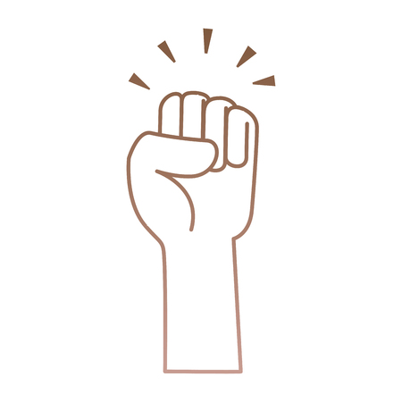 hand up fist icon vector illustration design Stock fotó - 90473989