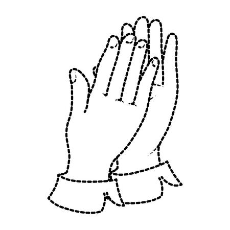 Mãos aplaudindo isolado ícone vetor ilustração design Foto de archivo - 90474012