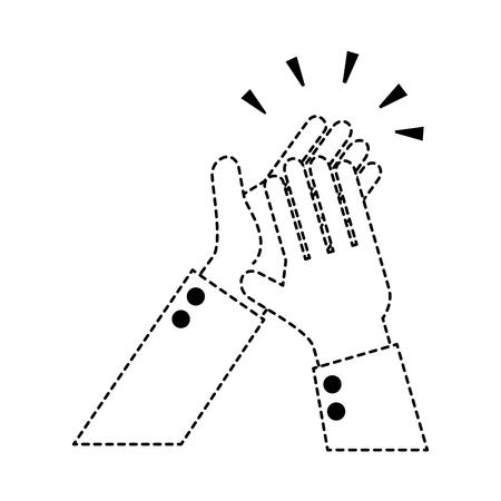 handen applaudisseren geïsoleerd pictogram vector illustratie ontwerp Stock Illustratie
