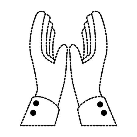 Manos aplaudiendo diseño de ilustración de vector de icono aislado Foto de archivo - 90474026