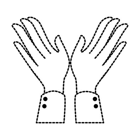 Manos aplaudiendo diseño de ilustración de vector de icono aislado Foto de archivo - 90474028