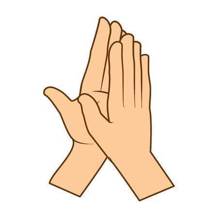 Mãos aplaudindo isolado ícone vetor ilustração design Foto de archivo - 90474052