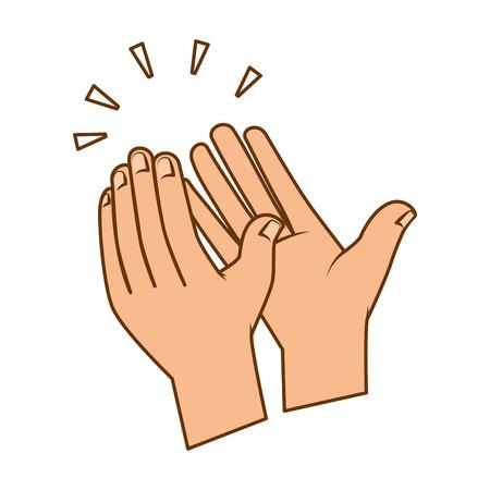 Handen applaudisseren geïsoleerd pictogram vector illustratie ontwerp Stockfoto - 90474054