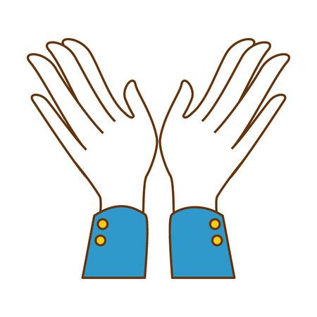 Mãos aplaudindo isolado ícone vetor ilustração design Foto de archivo - 90474059