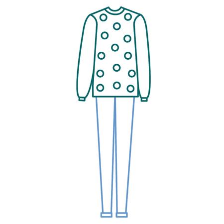 casual vrouwelijke jurk met ontwerp van de sweater het vectorillustratie Stock Illustratie