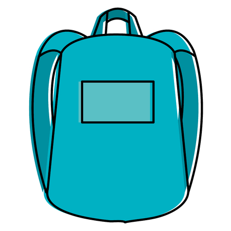 school bag isolated icon vector illustration design Imagens - 90474423