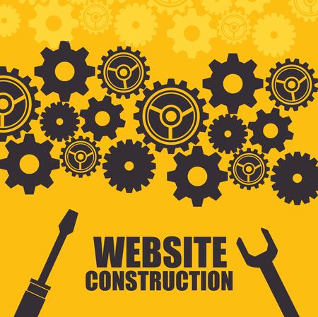 site Web en construction fond illustration vectorielle en conception graphique Vecteurs