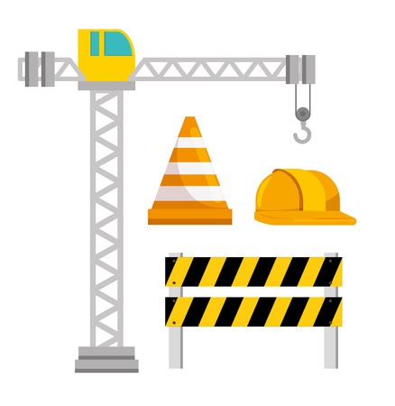 under construction icon set vector illustration graphic design Illustration