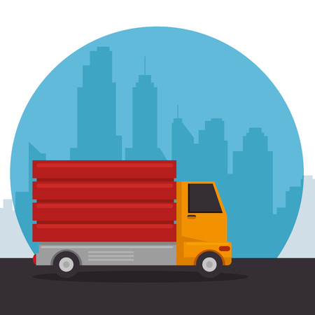 construction machinery vehicle dumper truck vector illustration graphic design