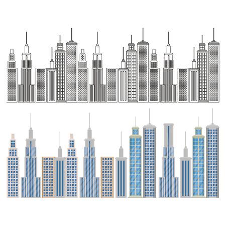 New York City scene vector illustratie ontwerp Stock Illustratie