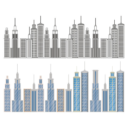 new york city scene vector illustration design