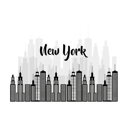 new york city scene vector illustration design Zdjęcie Seryjne - 90474524