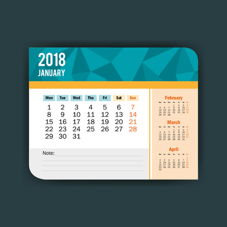 january calendar isolated icon vector illustration design