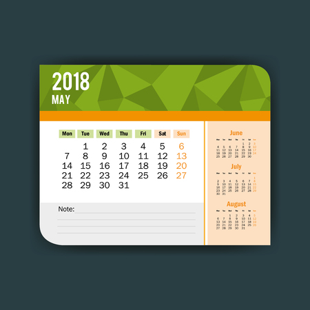 may calendar isolated icon vector illustration design