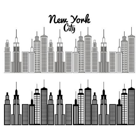 new york city scene vector illustration design Zdjęcie Seryjne - 90474529