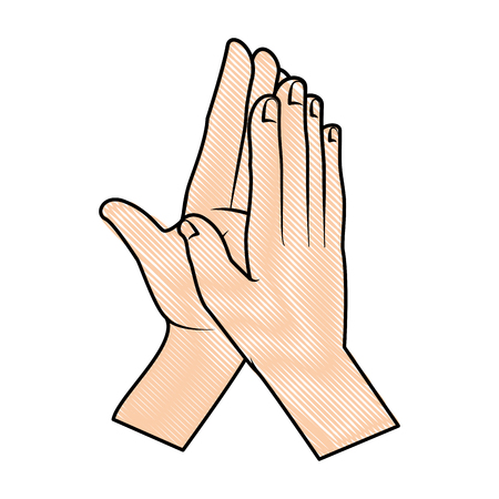 hands applauding isolated icon vector illustration design Banco de Imagens - 90507756