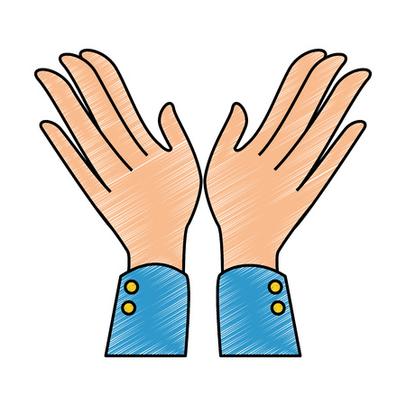 hands applauding isolated icon vector illustration design Reklamní fotografie - 90507758