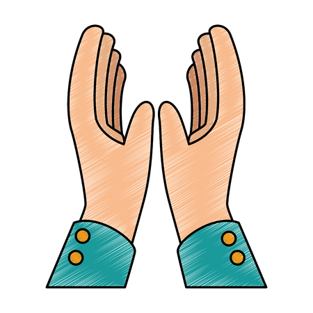 Hands applauding isolated icon vector illustration design.