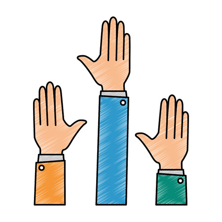 hands up isolated icon vector illustration design Ilustração