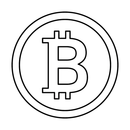 비트 동전 절연 아이콘 벡터 일러스트 디자인