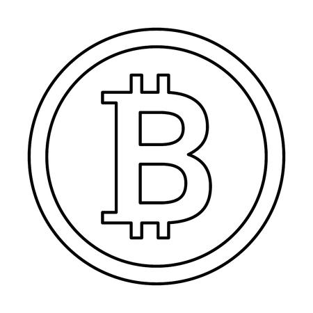 Bit munt geïsoleerd pictogram vector illustratie ontwerp Stockfoto - 90511621