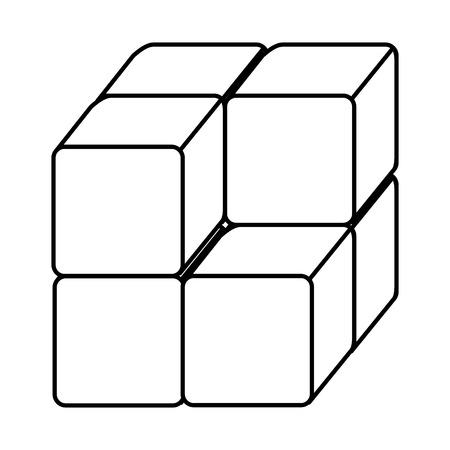 ブロックアイコンベクトルイラストデザインのキューブ  イラスト・ベクター素材