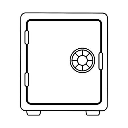 safe box isolated icon vector illustration design Illustration