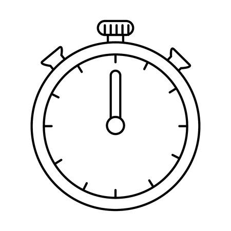 chronometer clock isolated icon vector illustration design