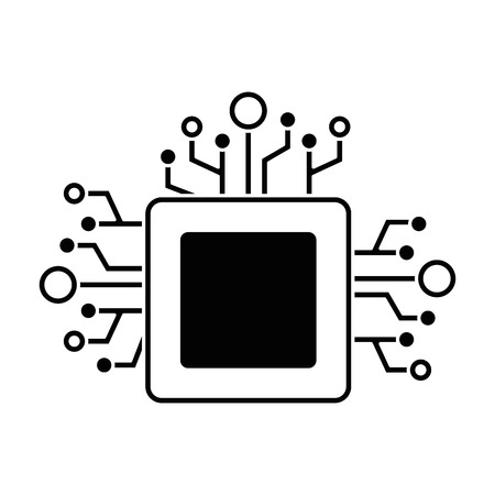 processor circuit isolated icon vector illustration design