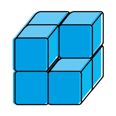 Cube avec des blocs icône vector illustration design Banque d'images - 90519070